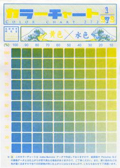 Color Chart green, blue & yellow #painting