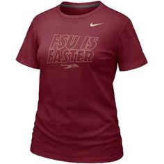 Nike Florida State Seminoles (FSU) Women's 2012 Chrome Package Fast Is Faster T-Shirt - Garnet