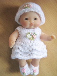 """Hand Knitted Outfit for 5"""" Berenguer Dolls Clothes"""