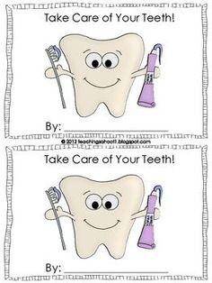 Dental Health Mini-Book- Free Printable