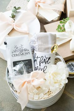 Award-winning curated gift boxes by Marigold & Grey. Our ready-to-ship luxury gift boxes and pre-curated gift sets include free U. Wedding Welcome Gifts, Wedding Gifts, Wedding Favors, Wedding Stuff, Gift Hampers, Gift Baskets, Christmas Party Favors, Curated Gift Boxes, Client Gifts