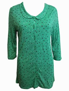Strawberry Hill Cottage - 40s Style Blouse Shirt Top Viscose Jersey with Peter Pan Collar 3/4 Sleeves, £9.99 (http://www.strawberryhillcottage.com/40s-style-blouse-shirt-top-viscose-jersey-with-peter-pan-collar-3-4-sleeves/)