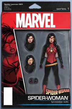 Spider-Woman #1 Action Figure variant cover by John Tyler Christopher *
