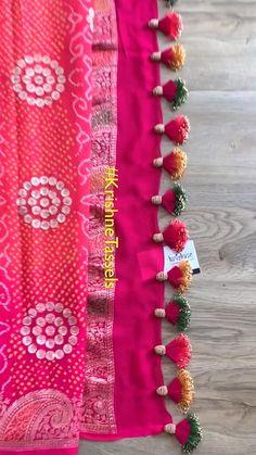 Saree Kuchu New Designs, Saree Tassels Designs, Kids Blouse Designs, Wedding Saree Blouse Designs, Hand Work Blouse Design, Embroidery Neck Designs, Bead Embroidery Patterns, Zardozi Embroidery, Fancy Dress Design