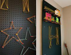 DIY Event- & Messe Design Ideen: Lochwand mit Buntstiften