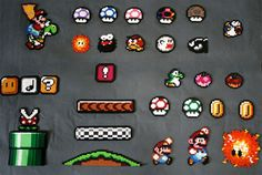 nintendo super mario world sprites perler bead