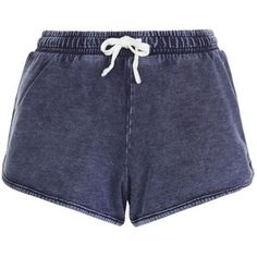 New Look Blue Acid Wash Runner Shorts