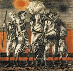 Candido Portinari - Drought in North East Brazil . South American Art, Art Database, Art Archive, Native Indian, Vincent Van Gogh, Art Techniques, Figurative Art, Art Forms, Watercolor Paintings