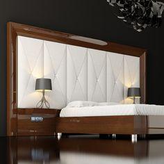 Love the large frame Wardrobe Design Bedroom, Luxury Bedroom Design, Bedroom Bed Design, Bedroom Decor, Bed Headboard Design, Modern Headboard, Headboards For Beds, Picture Frame Headboard, Headboard Lights