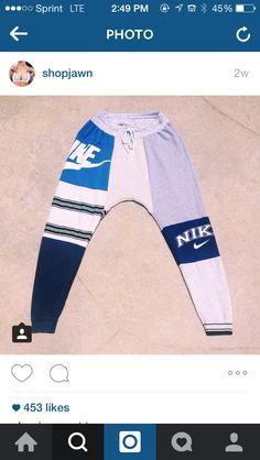 Diy t shirt jogger pants
