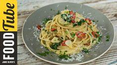 """Speedy spaghetti"" - anchovy, tomato, garlic, parsley and parmesan"