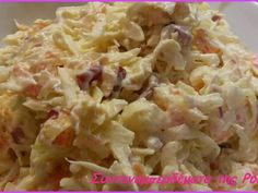 ΣΑΛΑΤΑ ΛΑΧΑΝΟ COLESLAW  από τη Ρούλα Γιαννιώτη Dips, Greek Recipes, Coleslaw, Food For Thought, Potato Salad, Recipies, Food And Drink, Cooking Recipes, Sweets