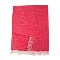 Merino Cashmere Blend Throw - Orange Raspberry Burst - Cashmere Throws - Throws