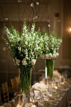 25+ Best Ideas about Green Centerpieces on Pinterest   Greenery centerpiece,  Green wedding centerpieces and Flower arrangements simple