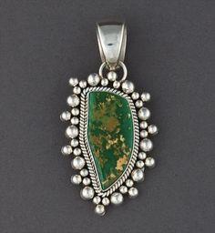 Pendant   Artie Yellowhorse (Navajo). Silver & Turquoise