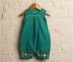 ec2b9c7f15 Blue Bay Woven Embroidered Playsuit Baby All In One