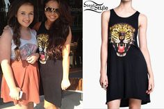 Jesy Nelson met fans at Nandos today wearing a Black leopard printed dress. You can get the dress at Enix Fashion ($27.99), Alie Express ($12.00), eBay ($11.99) and Maykool ($28.99).