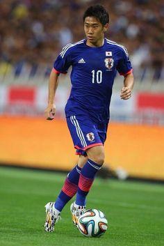 """Shinji KAGAWA No.10 (Manchester United) : """"Samurai Blue"""" Japan : 2014 FIFA World Cup Brazil : #WorldCup #SamuraiBlue"""