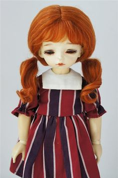Amazon.com: JD426 6-7'' 16-18CM Twin Curly Pony Mohair BJD Wigs 1/6 YOSD Doll Accessories (Carrot) Doll Wigs, Dolls, Amazon Art, Doll Accessories, Bjd, Sewing Crafts, Pony, Twins, Curly