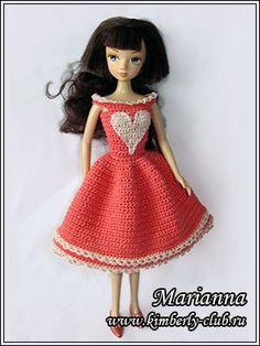 "МК! Платье ""Нежная валентинка"" Для куклы"