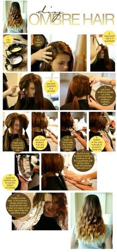 how to make ombre hair in your house