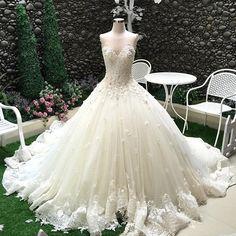 Romantic Ball Gown Lace Sweethreart Wedding Dress - My Wedding Ideas