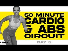 50 Minute Cardio and Abs Circuit Workout | POWER Program - Day 5 - YouTube Cardio Abs, Hiit Workout At Home, Bum Workout, Best Cardio, Workout Videos, Cardio For Fat Loss, Weight Loss Workout Plan, Ab Circuit, Friday