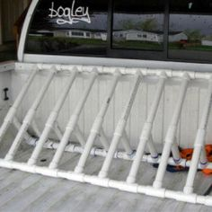 PVC Bike Rack Tutorial http://myhoneysplace.com/links-to-many-diy-projects-with-instructions-updated-often/