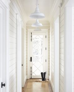 My new easy, but rich wall application. Enlightened hallway with shiplap walls. Love the overhead lighting