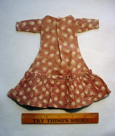19th c doll dress.