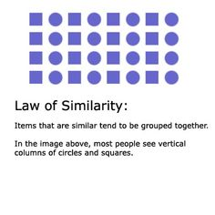 Learn the Gestalt Laws of Perceptual Organization: Law of Similarity