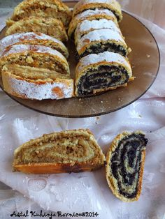 Albanian Recipes, Croatian Recipes, Wine Recipes, Baking Recipes, Dessert Recipes, Strudel, Delicious Desserts, Yummy Treats, Rodjendanske Torte