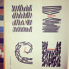 linear designs from the book Design with Type (1959) (instagram @anna_birdsofohio)
