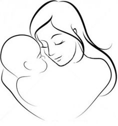 stock-vector-vector-illustration-of-mother-and-her-baby-65650834-300-279x300.jpg (279×300)