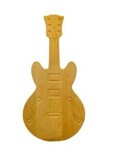 AC Millworks Jazz Box Guitar Shaped Cutting Boards Model G-7 by AC Millworks. $33.50. Solid Hard Rock Maple. Crafted and Artistically detailed. Guitar shaped  with  Engraving. Handwash only ,do not wash in dishwasher. Made and grown 100 % in the USA. This Jazz Box guitar shaped cutting board is sure to be a topic of conversation in your home.With the board being crafted out of solid hard rock maple grown out of Pennsylvania, the quality is admired. The board is offered with ei...
