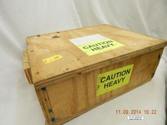 WOODEN BOX! HEAVY DUTY CONSTRUCTION! USED! FOR SHIPPING METAL PARTS! AS IS!