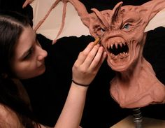 Beware the Bat! Sculpture by Midge Ordonez #cms #cinema #makeup #school #monster #bat