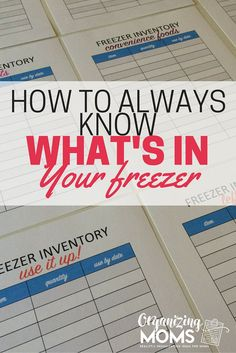 Looking for how to organize your freezer? Wondering what kind of ice crystals are growing in your deep freeze? Use this method to help you clean out your freezer, and always know what it contains from now on.