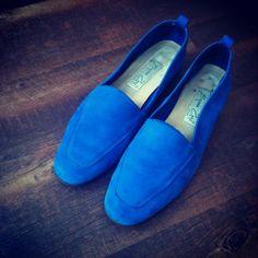 Blue leather Slipper
