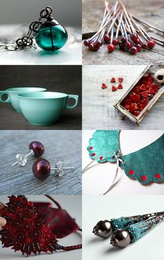 Teal And Burgundy Desire