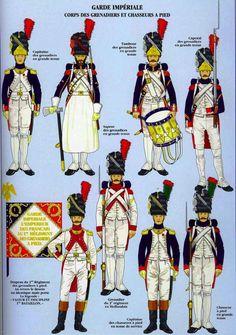 Garde Impériale Corps des Grenadiers et Chasseurs à pied
