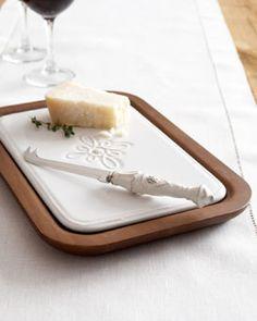 Juliska Wood Cheeseboard & Knife Set