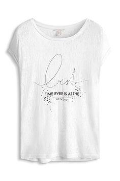Esprit / Slightly transparent, burnt-out T-shirt