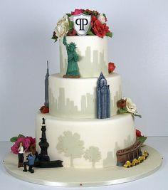 New York Skyline birthday cake birthday cake newyork cityscape