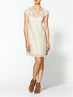 Tulle Short Sleeve Tie Back Dress | Piperlime