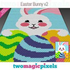 Baby Bugs Bunny, Cute Bunny, Easter Bunny, Bobble Stitch, Yarn Brands, C2c, Yarn Colors, Hama Beads, Plastic Canvas