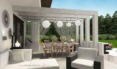 Projekt tarasu z jacuzzi - projekt indywidualny Green Design Outdoor Furniture Sets, Outdoor Decor, Jacuzzi, Landscape Architecture, Spa, Patio, Green, Design, Home Decor