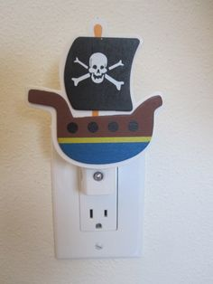 Shop for on Etsy, the place to express your creativity through the buying and selling of handmade and vintage goods. Baby Boy Rooms, Baby Room, Pirate Boats, Next Children, Nursery Lighting, Animal Nursery, Diy Hacks, Night Light, Pirates