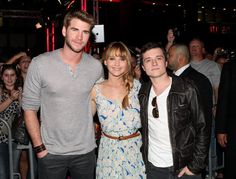 Jennifer Lawrence, Liam Hemsworth, and Josh Hutcherson greeted fans and signed autographs at the Westfield Century City mall in LA.