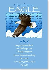 Birthday Card - Birthday Advice From An Eagle   Your True Nature®   60275   Leanin' Tree